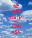 KEEP CALM AND JOIN ASA - Personalised Tea Towel: Premium
