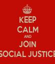 KEEP CALM AND JOIN SOCIAL JUSTICE - Personalised Tea Towel: Premium