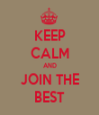 KEEP CALM AND JOIN THE BEST - Personalised Tea Towel: Premium