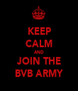 KEEP CALM AND JOIN THE BVB ARMY - Personalised Tea Towel: Premium