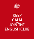 KEEP CALM AND JOIN THE ENGLISH CLUB - Personalised Tea Towel: Premium
