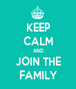 KEEP CALM AND JOIN THE FAMILY - Personalised Tea Towel: Premium