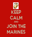 KEEP CALM AND JOIN THE MARINES - Personalised Tea Towel: Premium