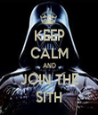 KEEP CALM AND JOIN THE SITH - Personalised Tea Towel: Premium