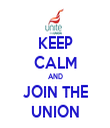 KEEP CALM AND JOIN THE UNION - Personalised Tea Towel: Premium