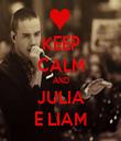KEEP CALM AND JULIA E LIAM - Personalised Tea Towel: Premium