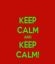 KEEP CALM AND KEEP CALM! - Personalised Tea Towel: Premium
