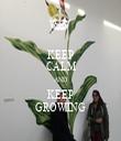 KEEP CALM AND KEEP GROWING - Personalised Tea Towel: Premium