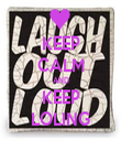 KEEP CALM AND KEEP LOLING - Personalised Tea Towel: Premium