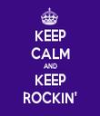KEEP CALM AND KEEP ROCKIN' - Personalised Tea Towel: Premium