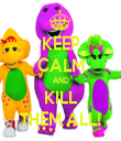 KEEP CALM AND KILL THEM ALL! - Personalised Tea Towel: Premium