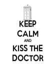 KEEP CALM AND KISS THE DOCTOR - Personalised Tea Towel: Premium