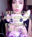 KEEP CALM   AND KISS THE PICTURES OF EKATERINA BOTEVA - Personalised Tea Towel: Premium