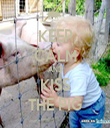 KEEP CALM AND KISS THE PIG - Personalised Tea Towel: Premium