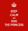 KEEP CALM AND KISS THE PRINCESS - Personalised Tea Towel: Premium