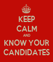 KEEP CALM AND KNOW YOUR CANDIDATES - Personalised Tea Towel: Premium