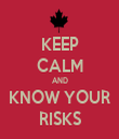 KEEP CALM AND KNOW YOUR RISKS - Personalised Tea Towel: Premium
