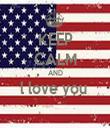 KEEP CALM AND l love you   - Personalised Tea Towel: Premium