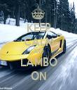 KEEP CALM AND LAMBO ON - Personalised Tea Towel: Premium