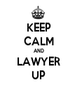 KEEP CALM AND LAWYER UP - Personalised Tea Towel: Premium