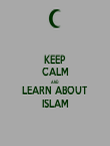 KEEP CALM AND LEARN ABOUT ISLAM - Personalised Tea Towel: Premium