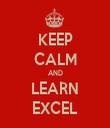 KEEP CALM AND LEARN EXCEL - Personalised Tea Towel: Premium