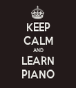 KEEP CALM AND LEARN PIANO - Personalised Tea Towel: Premium