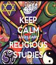 KEEP CALM AND LEARN  RELIGIOUS  STUDIES - Personalised Tea Towel: Premium