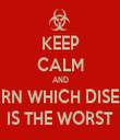 KEEP CALM AND LEARN WHICH DISEASE IS THE WORST - Personalised Tea Towel: Premium