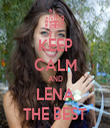 KEEP CALM AND LENA THE BEST - Personalised Tea Towel: Premium