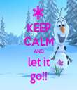 KEEP CALM AND let it go!! - Personalised Tea Towel: Premium