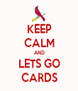 KEEP CALM AND LETS GO CARDS - Personalised Tea Towel: Premium