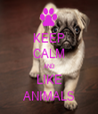 KEEP CALM AND LIKE ANIMALS - Personalised Tea Towel: Premium