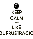 KEEP CALM AND LIKE BOL FRUSTRACION - Personalised Tea Towel: Premium