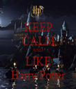 KEEP CALM AND  LIKE Harry Potter - Personalised Tea Towel: Premium
