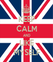 KEEP CALM AND LIKE MYSELF - Personalised Tea Towel: Premium
