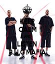 KEEP CALM AND LISTEN  B.U.G MAFIA - Personalised Tea Towel: Premium
