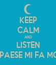 KEEP CALM AND LISTEN IL MIO PAESE MI FA MOBBING - Personalised Tea Towel: Premium