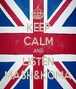 KEEP CALM AND LISTEN MASH&KOMA - Personalised Tea Towel: Premium