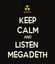 KEEP CALM AND LISTEN  MEGADETH - Personalised Tea Towel: Premium