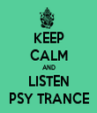KEEP CALM AND LISTEN PSY TRANCE - Personalised Tea Towel: Premium