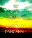 KEEP CALM AND LISTEN TO DANCEHALL - Personalised Tea Towel: Premium