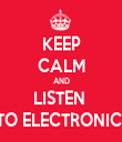 KEEP CALM AND LISTEN  TO ELECTRONIC  - Personalised Tea Towel: Premium