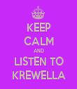 KEEP CALM AND LISTEN TO KREWELLA - Personalised Tea Towel: Premium
