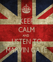 KEEP CALM AND  LISTEN TO MARVIN GAYE - Personalised Tea Towel: Premium