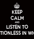 KEEP CALM AND LISTEN TO MOTIONLESS IN WHITE - Personalised Tea Towel: Premium