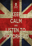 KEEP CALM AND LISTEN TO  MOTORHEAD - Personalised Tea Towel: Premium