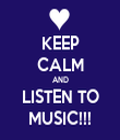 KEEP CALM AND LISTEN TO MUSIC!!! - Personalised Tea Towel: Premium