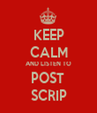 KEEP CALM AND LISTEN TO POST  SCRIP - Personalised Tea Towel: Premium
