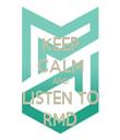 KEEP CALM AND LISTEN TO RMD - Personalised Tea Towel: Premium
